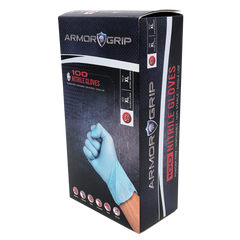 Armor Grip 4 Mil Blue Nitrile Gloves - Box of 100  IN STOCK $10.85