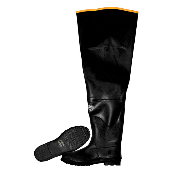 Cotton Lined Rubber Hip Boots