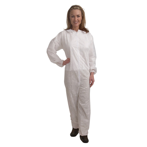 Polypropylene Protective Coveralls - Case of 25