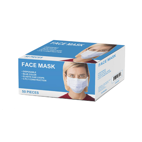 Special Price!  $17.95 Disposable Ear-Loop 3-Ply Face Masks - Box of 50