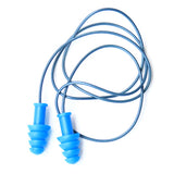 Blue Metal-Detectable Thermoplastic Rubber Earplugs - 100 Per Box