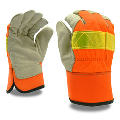 Thinsulate® Hi-Vis Premium Grain Pigskin Palm Gloves - 12 Pairs