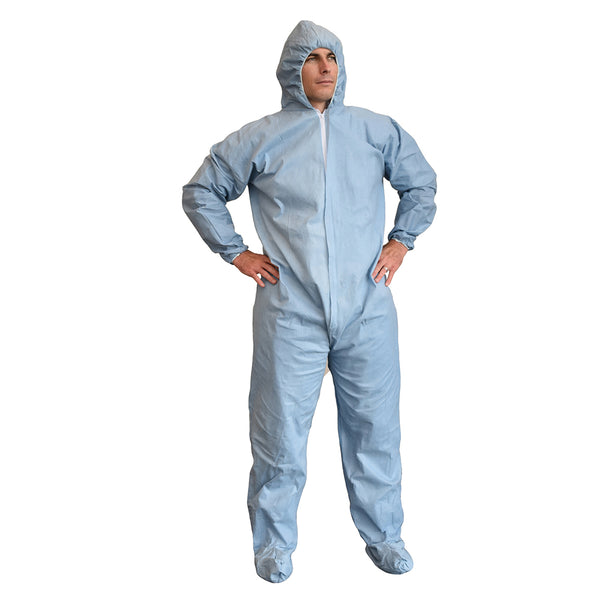 Defender FR™ Self-Extinguishing Hooded Coveralls - Case of 25