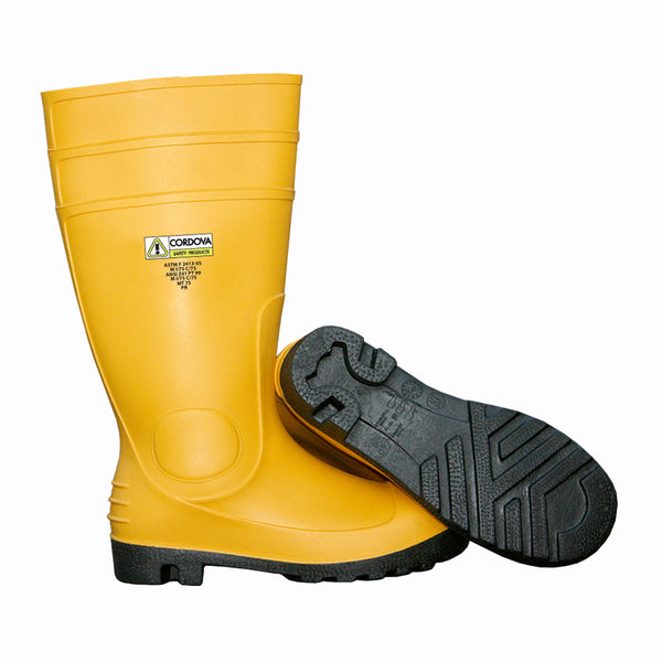 Polyester/Cotton Lined Yellow PVC Boots