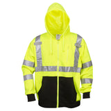 COR-BRITE™ Type R, Class 3,Hi-Vis Lime Hooded Sweatshirt