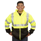 COR-BRITE™Type R, Class 3, Hi-Vis Lime Hooded Sweatshirt