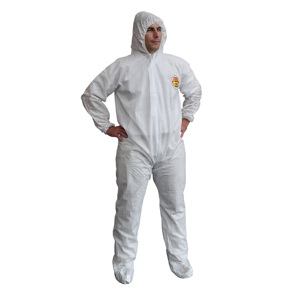 C-Max™ SMS Coveralls with Hood & Boots - Case of 25