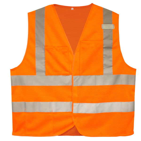 COR-BRITE™ Type R, Class 2,  Self- Extinguishing Safety Vest, Sizes Small -5XL