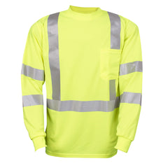 COR-BRITE™ Type R, Class 3, Hi-Vis Lime Long Sleeve T-Shirt