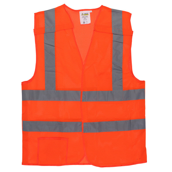 Cordova Type R, Class 2, Five Point Breakaway Design,Safety Vest - Sizes Small - 7XL