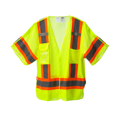 COR-BRITE™ Type R, Class 3, Five-Point Breakaway Vest - Lime