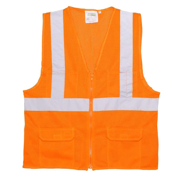 COR-BRITE™, Type R, Class 2, Surveyors Safety Vest, Sizes Small - 5XL