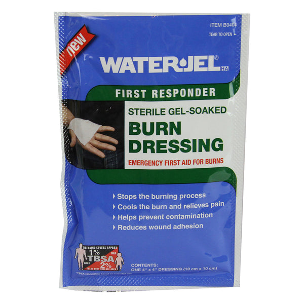 "Water-Jel 4"" x 4"" Sterile Gel-Soaked Burn Dressing"