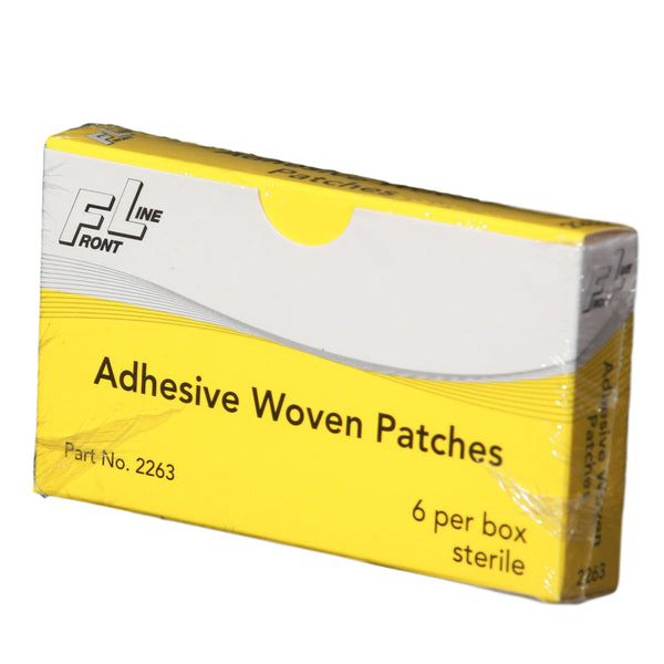 Adhesive Woven Patch Bandages - 6 Count