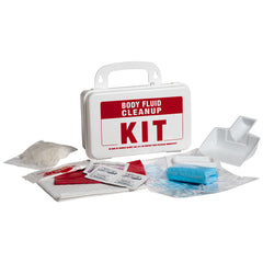 body fluid clean up kit plastic case