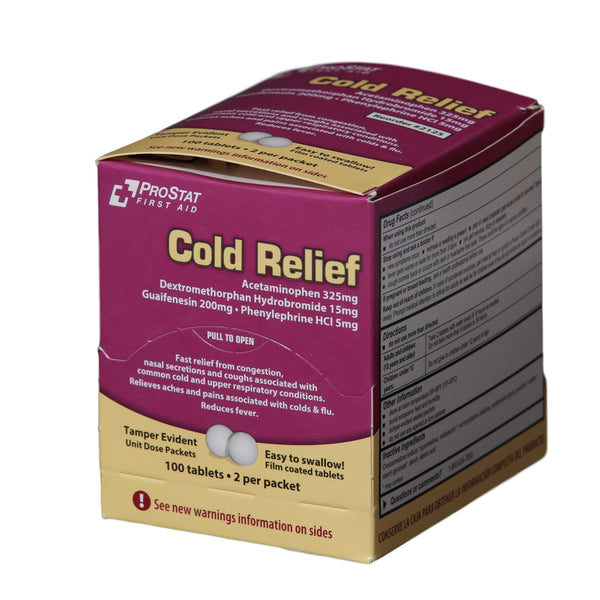 Multi-Symptom Cold Relief (Compare to Tylenol Cold & Flu Severe) - 50 Packets of 2 Tablets