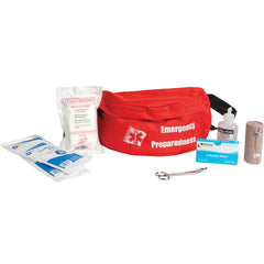 red medical first aid kit fanny pack