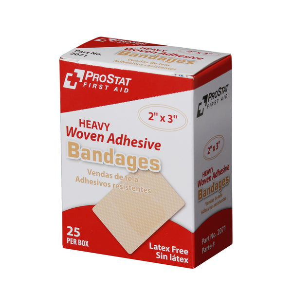 Heavy Woven Adhesive Patch Bandages - 25 Count