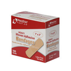"Heavy Woven 1"" x 3"" Adhesive Bandages - 100 Count"
