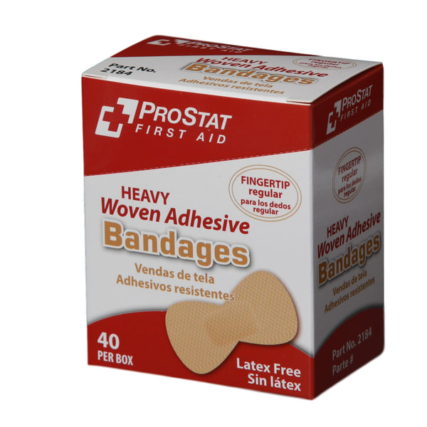 Heavy Woven Adhesive Fingertip Bandages - 40 Count