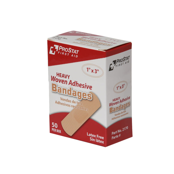 "Heavy Woven 1"" x 3"" Adhesive Bandages - 50 Count"