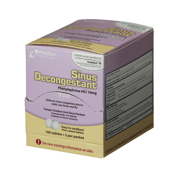 Sinus Decongestant (Compare to Sudafed PE) - 50 Packets of 2 Tablets
