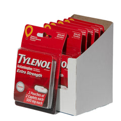 Multi Pack Tylenol Extra Strength Acetaminophen 12 Packets (2 Capsules Each)