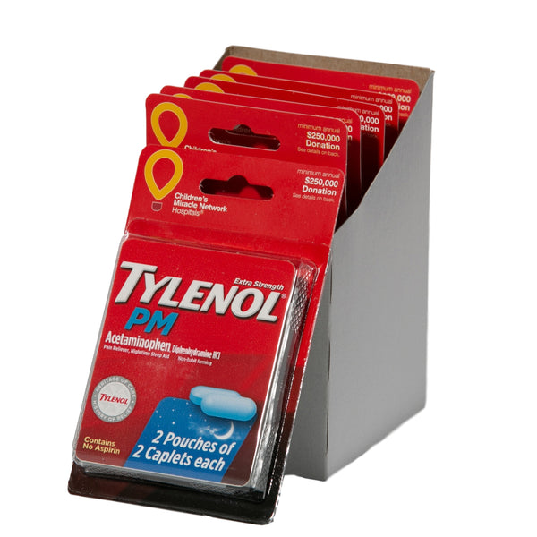 Tylenol Extra Strength Acetaminophen PM - 12 Packets (2 Caplets Per Packet)