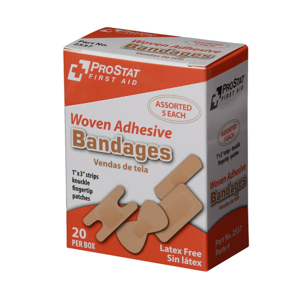 Woven Adhesive Assorted Bandages - 20 Count