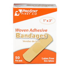"Woven Adhesive 1"" x 3"" Bandages - 50 Count"