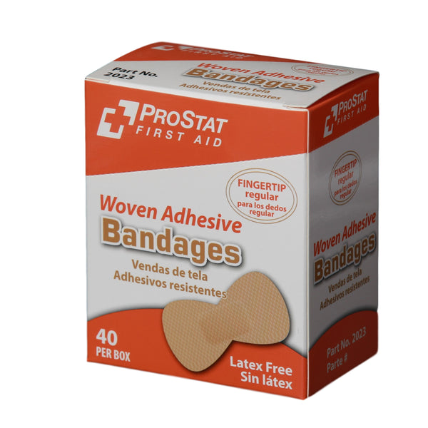 Woven Adhesive Fingertip Bandages - 40 Count