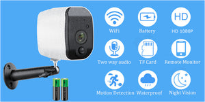Camera Rechargeable Battery Powered 2.0MP HD Outdoor Wireless 1080P Wireless - spy online australia - spy products - nanny cam - gps tracker - home security - home security camera - drones - hidden cam - spy cam - hidden camera - spy camera