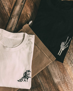 The Raccoon - Embroidered Tee