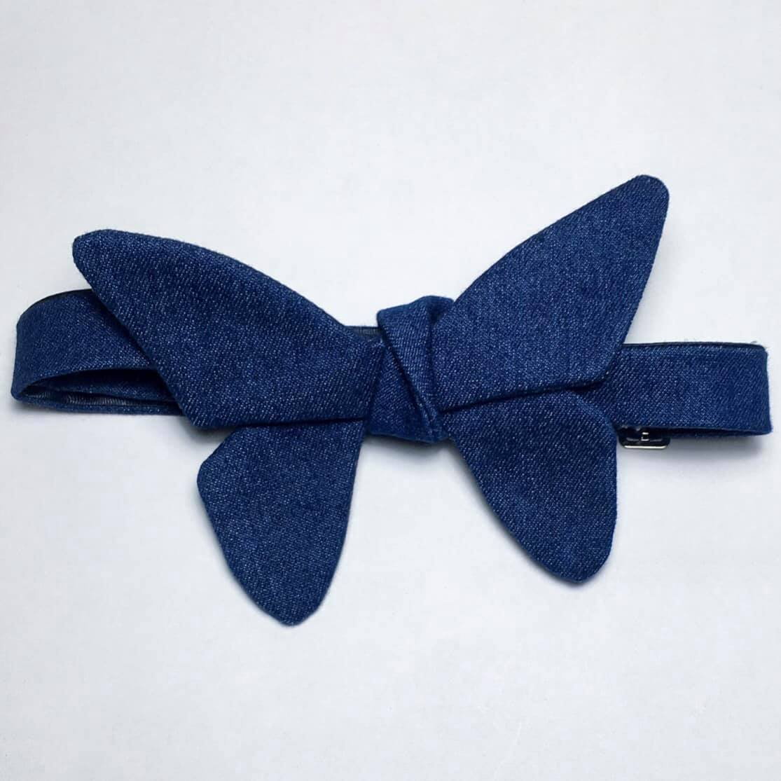 DENIM BUTTERFLY BOW TIE
