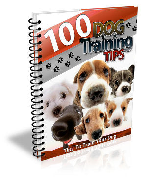 """100 Dog Training Tips"" eBook Digital Download - WhagSag"