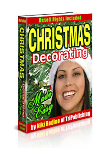 """Christmas Decorating Made Easy"" eBook Digital Download - WhagSag"