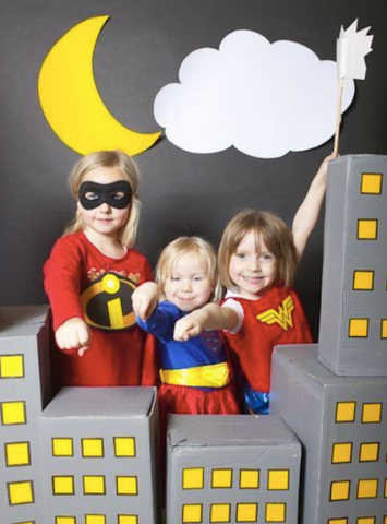Great Pretenders has a fun collection of Superhero-inspired party and pretend-play items that will make throwing a fun and entertaining superhero birthday party for your little one a breeze!