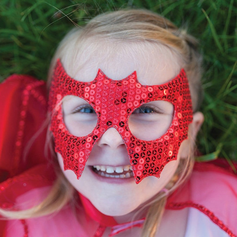 Red Sequins Bat Mask - Great Pretenders