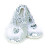Silver Heart Slipper, Size 8-9