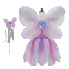 Butterfly Dress w/Wings & Wand, Pink/Multi