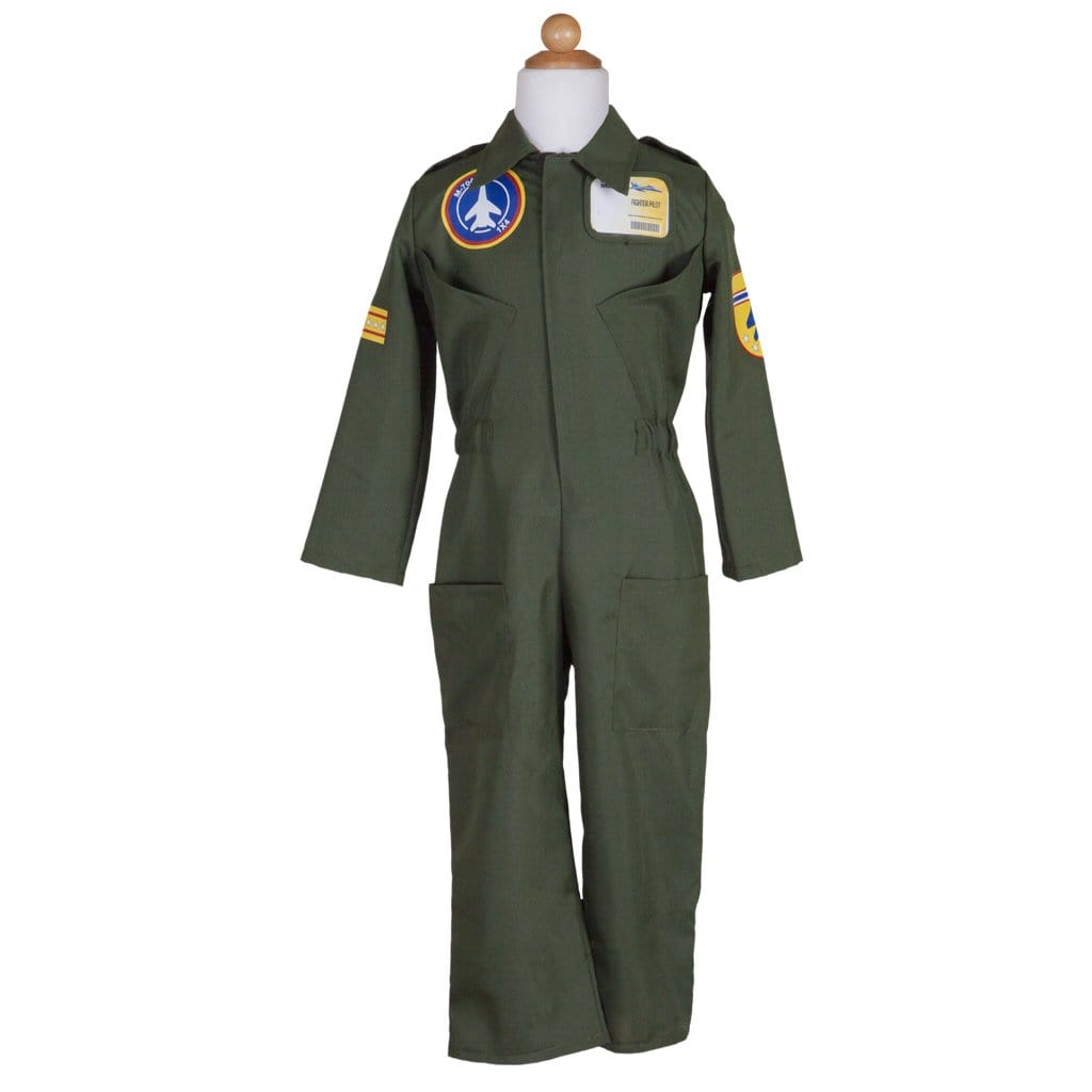 Pilot Jumpsuit Set Includes Helmet & ID Badge - Great Pretenders