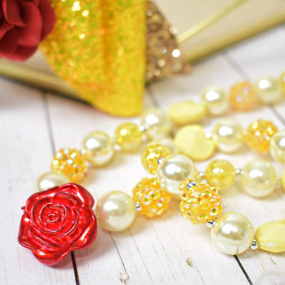 Belle Beautiful Rose Necklace Set (2 pcs) - Great Pretenders