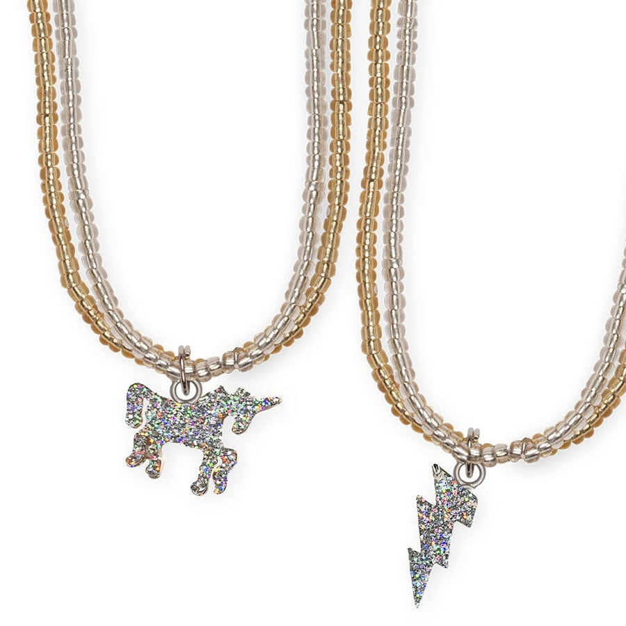 Glitter Unicorn Lightning Necklace, 2 Assorted - Great Pretenders