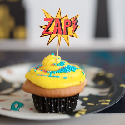 Cupcake Party Toppers - Superhero (24pcs) - Great Pretenders