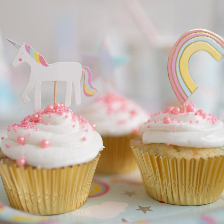 Cupcake Party Toppers - Unicorn (24 pcs) - Great Pretenders