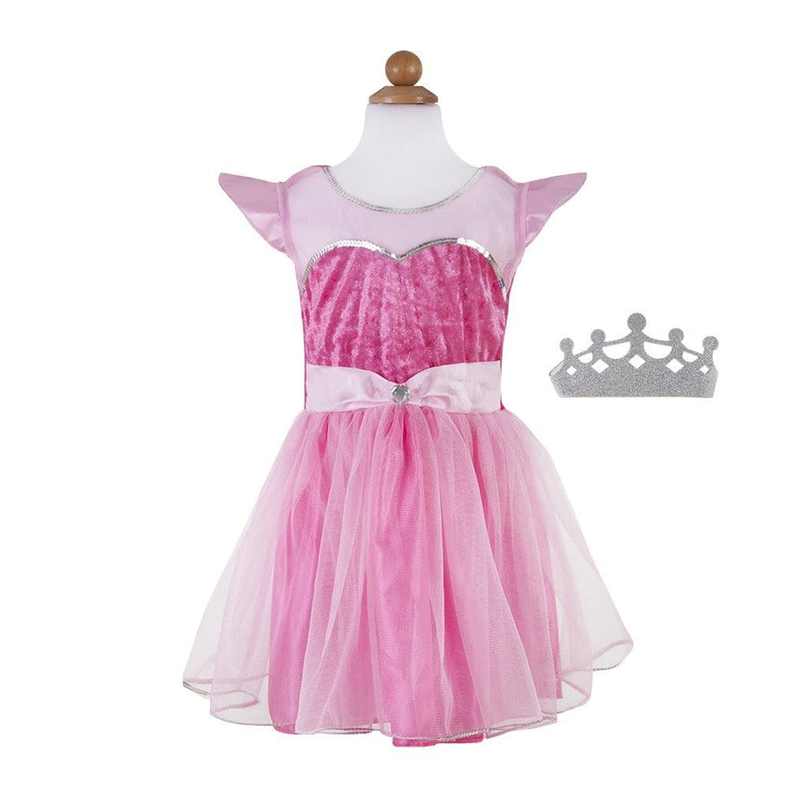 Pink Party Princess Dress with Tiara - Great Pretenders