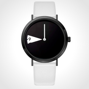 Rotatesse™ - Distinctive Creative Unisex Wristwatch - Cotton, rotating dial, rotating clock face, unisex watch, minimal creative wristwatch, wristwatch, unisex wristwatch, rotating watch display, rotating watch case, rotating bezel watch, rotating dial watch, red funky wristwatch, charming rotating watch for all.