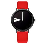 Rotatesse™ - Distinctive Creative Unisex Wristwatch - Charming, rotating dial, rotating clock face, unisex watch, minimal creative wristwatch, wristwatch, unisex wristwatch, rotating watch display, rotating watch case, rotating bezel watch, rotating dial watch, red funky wristwatch, charming rotating watch for all.