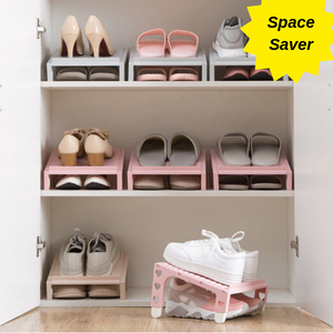 Footwear Marshal™ - Stackable Neat Organizer, shoe organizer, neat organizer, shoe organizer for closet, closet shoe organizer, double stackable shoe organizer, space saver shoe organizer, shoe rack, newest stackable shoe organizer, shoe closet, shoe rack organizer, footwear made neat and tidy, my front porch shoe rack