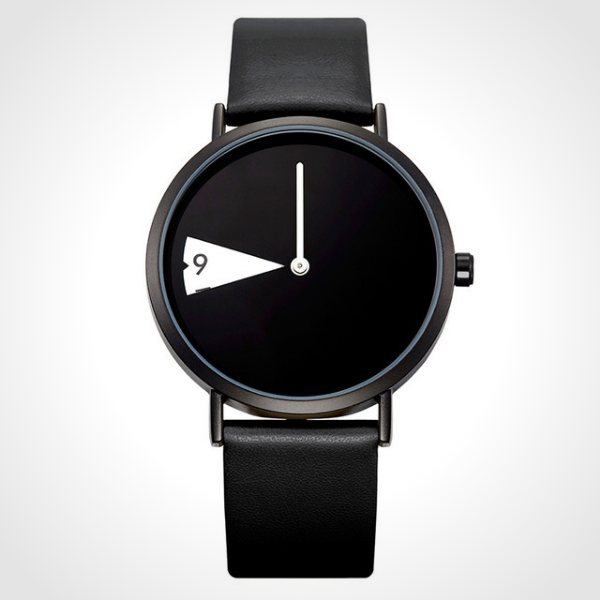 Rotatesse™ - Distinctive Creative Unisex Wristwatch - Crow, rotating dial, rotating clock face, unisex watch, minimal creative wristwatch, wristwatch, unisex wristwatch, rotating watch display, rotating watch case, rotating bezel watch, rotating dial watch, red funky wristwatch, charming rotating watch for all.